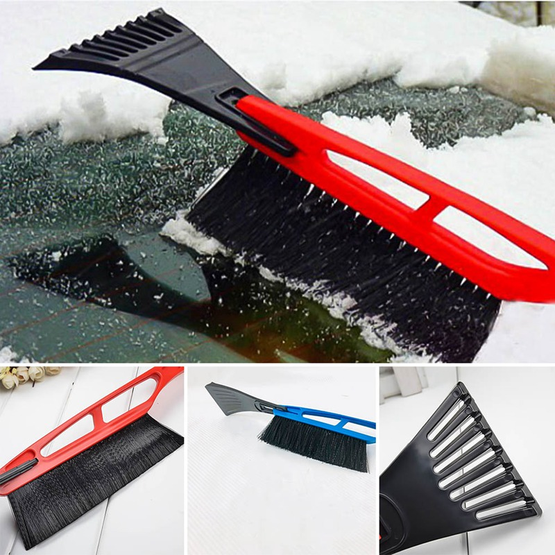 1Pcs Car Vehicle Snow Ice Scraper Snowbrush Shovel Removal Brush Winter Outdoor Clean Tool Random Color