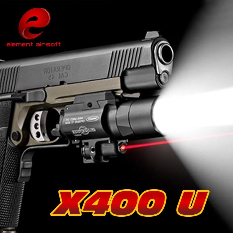 Elemento X400 ULTRA LED Tattica Torcia Elettrica del laser Light Picatinny Rail Per Pistola Lanterna Lampada Caccia Airsoft Pistola Arsoft Braccia