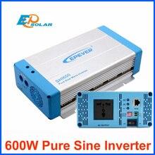 محول موجة جيبية نقي 600 واط EPEVER تيار مستمر 12 فولت 24 فولت مدخل إلى مخرج تيار متردد نظام التعادل الشبكي SHI600 تطبيق نظام منزلي