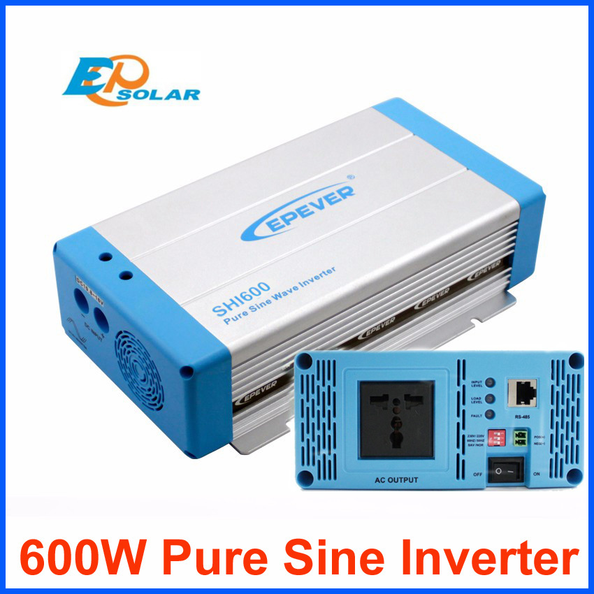600W power pure sine wave inverter EPEVER DC 12V 24V input to AC output off grid tie system SHI600 home system applicationInverters & Converters   -
