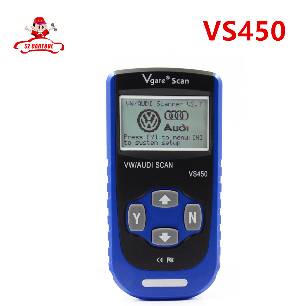 Prix pour Livraison Gratuite Vgate Numérisation VS450 VW VAG Scanner OBD2 Outil De Diagnostic Scanner Pour Voiture Scanners Automobile Diagnostic