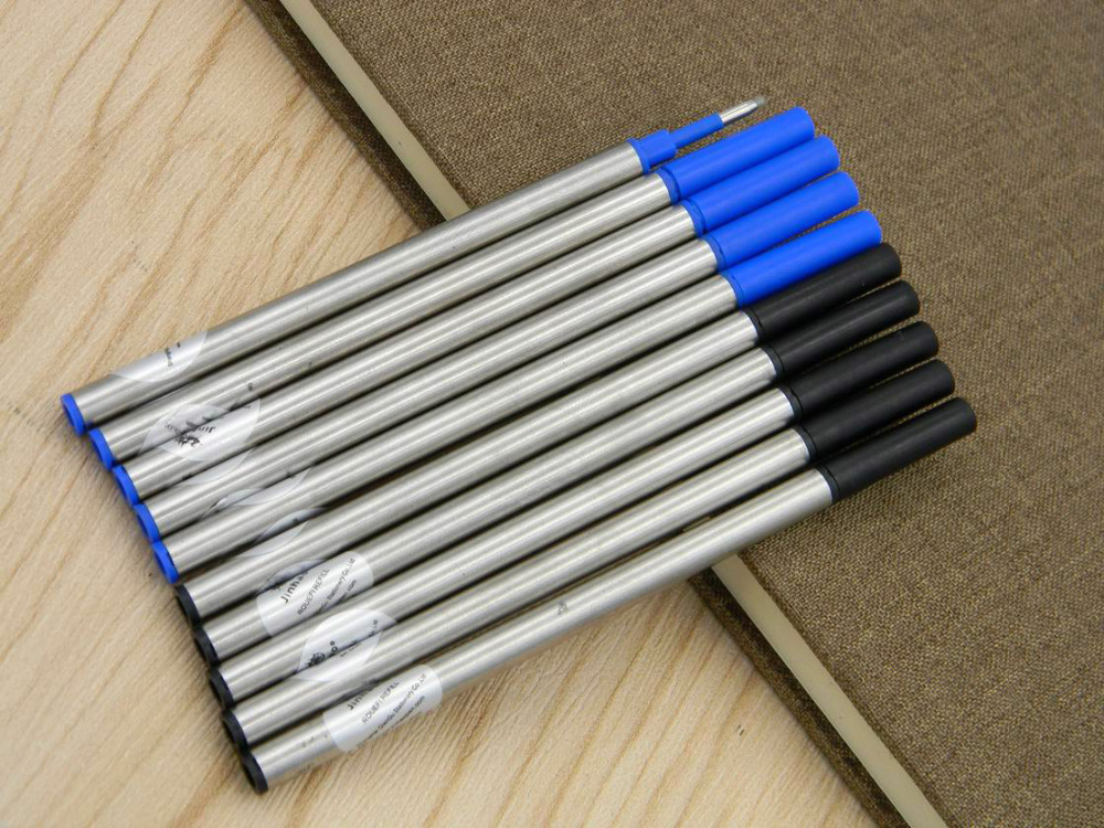 10pcs Jinhao Top Quality Blue & Black Ink Refill For Roller Ball Pen Refills