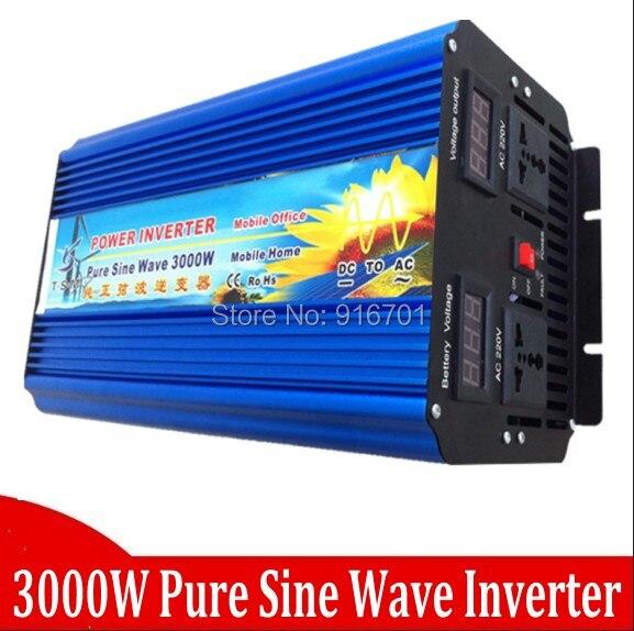 Digital Display 6000W Peak 3kW Inverter 12V DC to 230V AC 3000W Pure Sine Wave Inverter 3000W pure sinus inverter 3000w pure sinus inverter 3000w pure sine wave inverter 12v or 24v or 12vdc 220vac 230v or 230vac 5kw 6000w peak