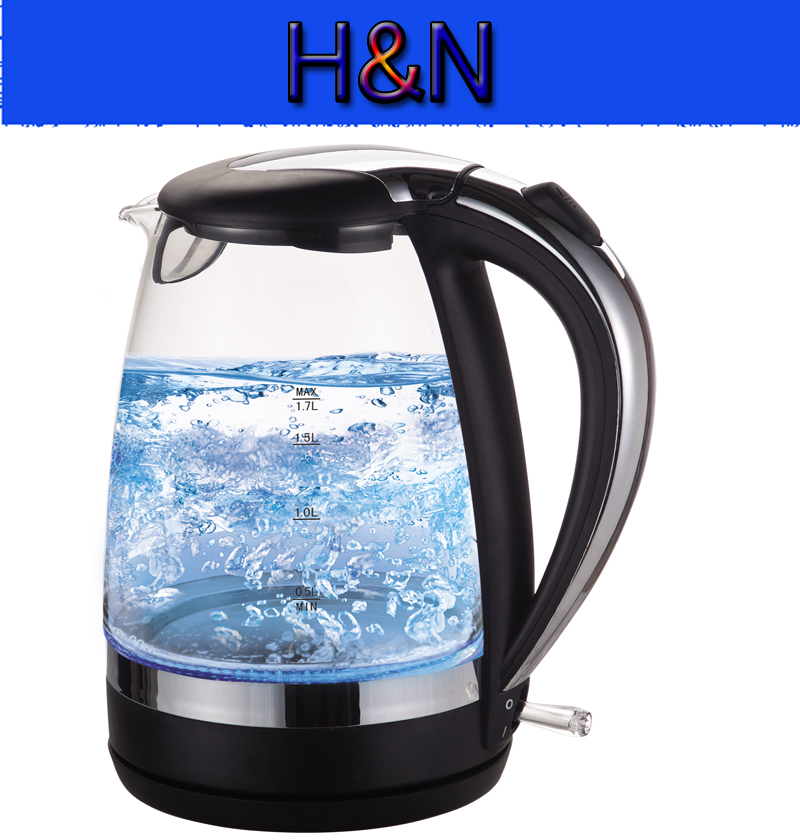 Factory Wholesale Electric Kettle Glass Boil-dry And Overheart protection LED Ligt Electric Kettle For Home kitchen Appliances philips brl130 satinshave advanced wet and dry electric shaver