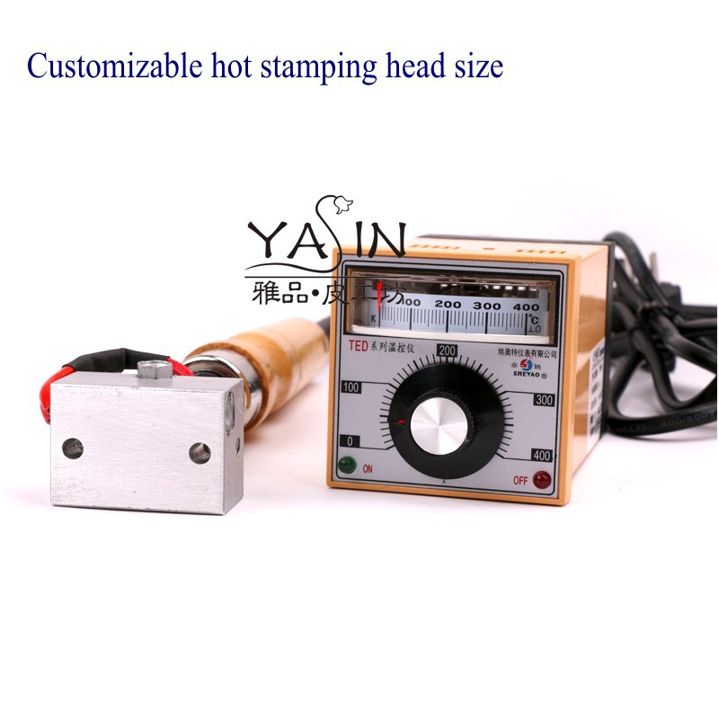 Petite machine de marquage de marque de LOGO de machine de gaufrage en cuir de machine d'estampillage réglable de température tenue dans la main 5x3 cm