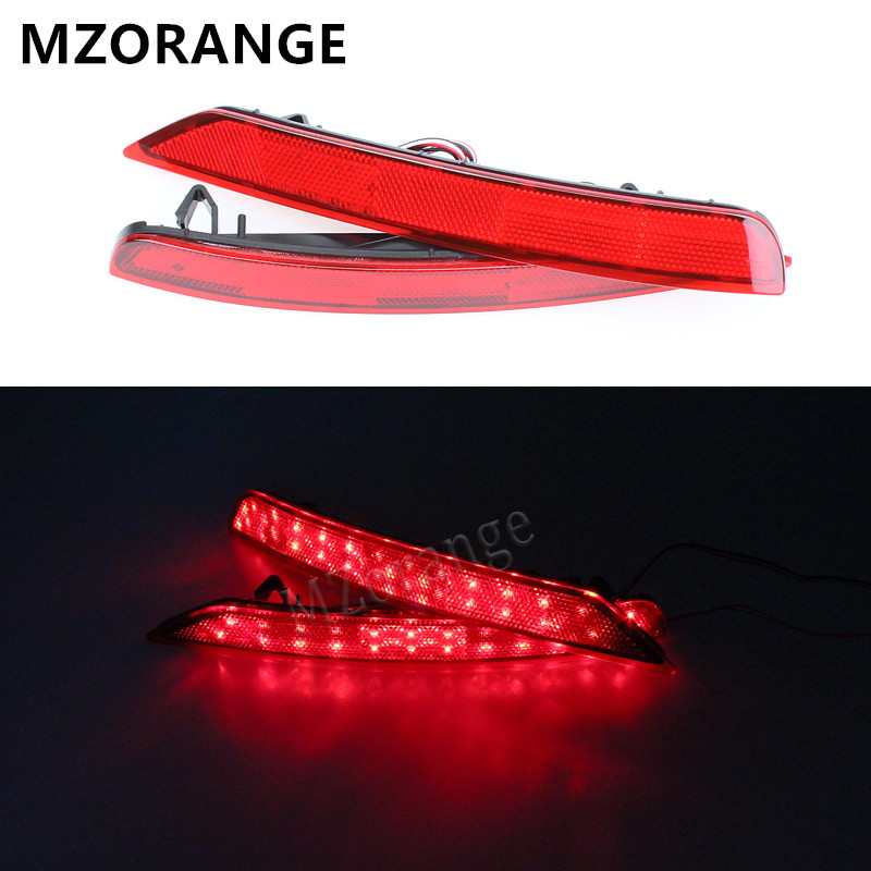 Car LED Rear Bumper Reflector Light Brake stop lamp RED fog light for Subaru Forester 2009 2010 2011 2012 2013 2014 2015 2016 car rear trunk security shield shade cargo cover for kia sportag 2007 2008 2009 2010 2011 2012 2013 black beige