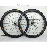 700C 50mm Carbon Road Wheels 23mm width Clincher Tubular 3K Twill Weave Road Bike Carbon Wheelset Bicycle Wheels Basalt Brake