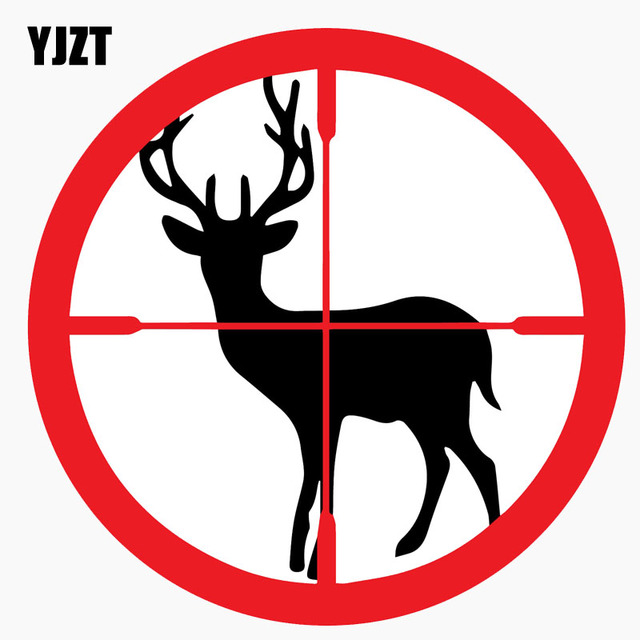 Yjzt 11 7cm11 7cm deer hunting hunter aim target rifles the tail of the