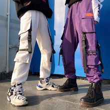 Streetwear Women Cargo harajuku Pants Unisex Pocket Purple HipHop High Street Style pant  trousers women camo pants Trending IG