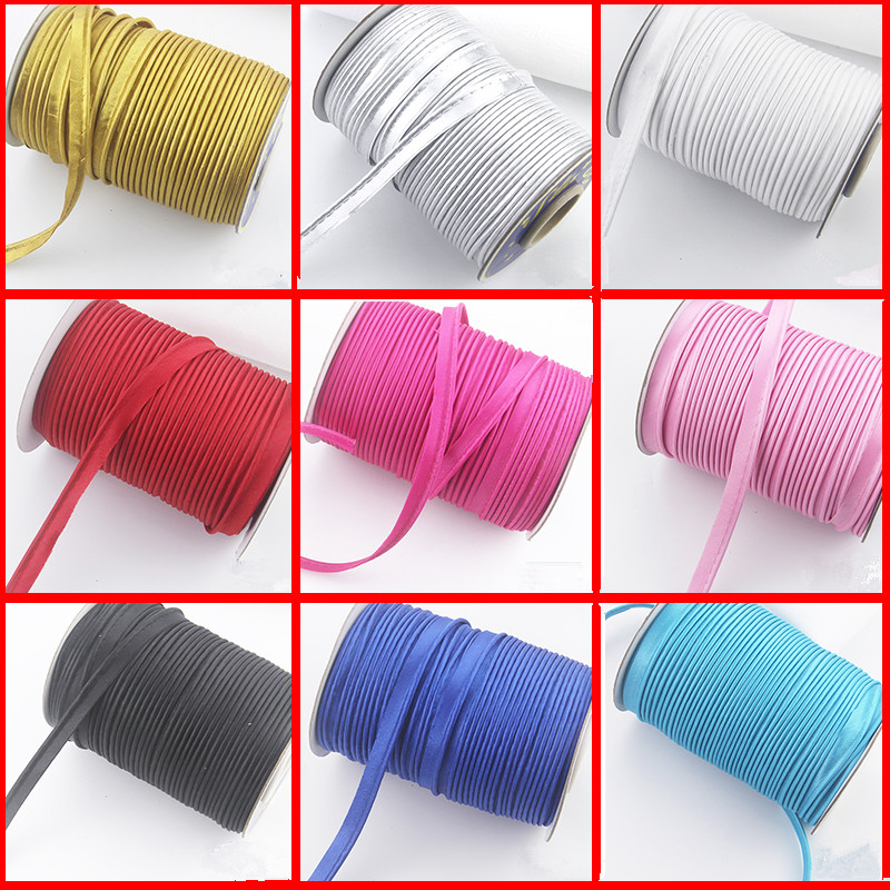 10mm Polyester Satin Bias Binding Cord Tape Piping Tape