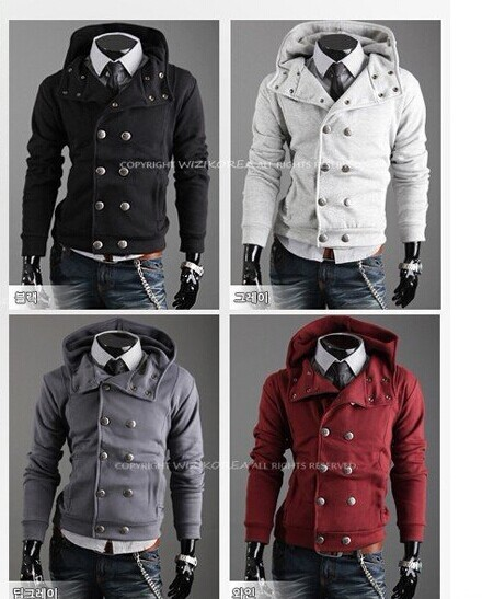 Hooded Men Brand Mens Hoodies Designer Jackets Men Fashion Top Double Breasted Cardigan Hooded ...