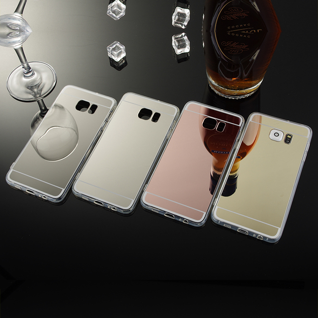 official photos f3ed9 e96b2 US $3.36 28% OFF|Fundas Luxury Clear Mobile Cover for Samsung Galaxy S6  Edge Plus Mirror Case TPU Phone Cover for Galaxy S6 Edge Plus  Accessories-in ...