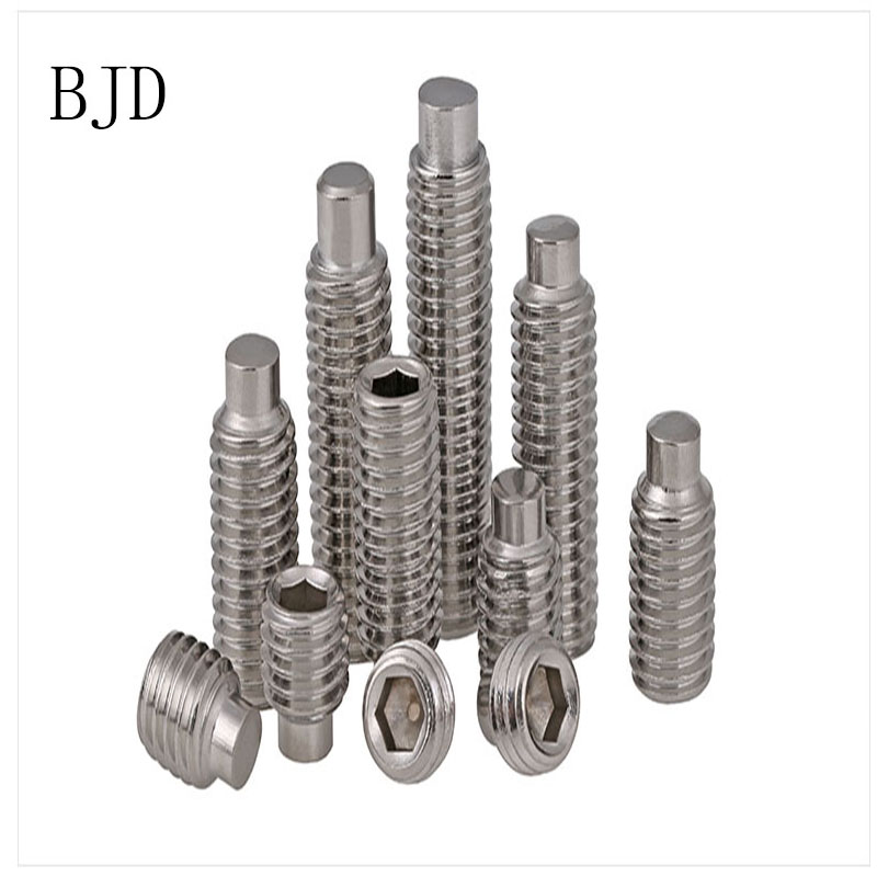 DIN915 GB79 M3 3mm bolt M4 M5 M6 M8 M10 M12 304 authentic stainless steel set screws screw machine without head screw free shipping iso7380 304 stainless steel round head screw m3 m4 m5 m6 screws hex socket screw three combination 2018 hot