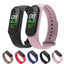 купить M4 Smart Band 4 Fitness Heart Rate Blood Pressure Monitor Sport Smart Bracelet Watch for Xiaomi Android iOS PK Mi Band 4 3 по цене 999.21 рублей