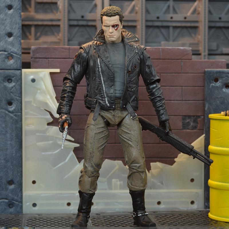 The Terminator Action Figure T 800 / T 1000 PVC Action Figure Toy Model 18cm for children toy