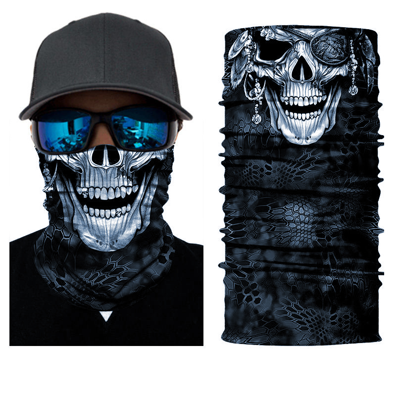Colorful StealthTech Verduous Skull Face Shield Fishing