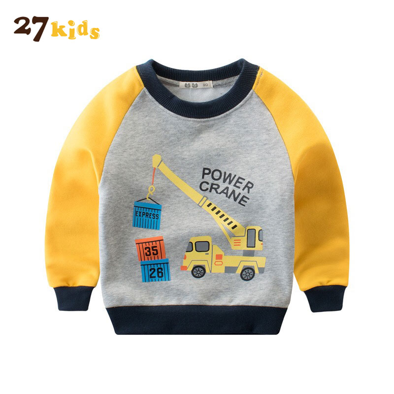 27Kids Boy Hoodies Sweatshirt Baby Cotton Clothing Long Sleeve T-shirt Children Winter Keep Warm Kids Clothes Sweatshirt Hoody
