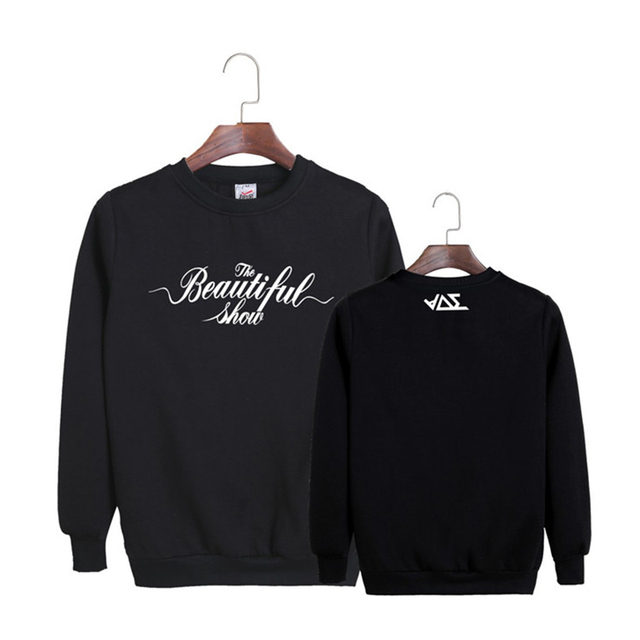 HPEIYPEI KPOP Korean Fashion B2ST Beast The Beautiful Show Concert Album Cotton Hoodies Clothes Pullovers Sweatshirts PT205