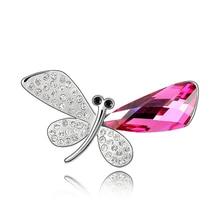 Joyería Del Banquete de Boda de Cristal de Swarovski de Moda temperamento Mujeres de La Mariposa Broches Elegantes Cristales Elementos Broche Nuevo