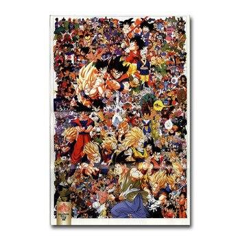 Аниме Плакат гобелен Драконий жемчуг материал шелк вариант 3