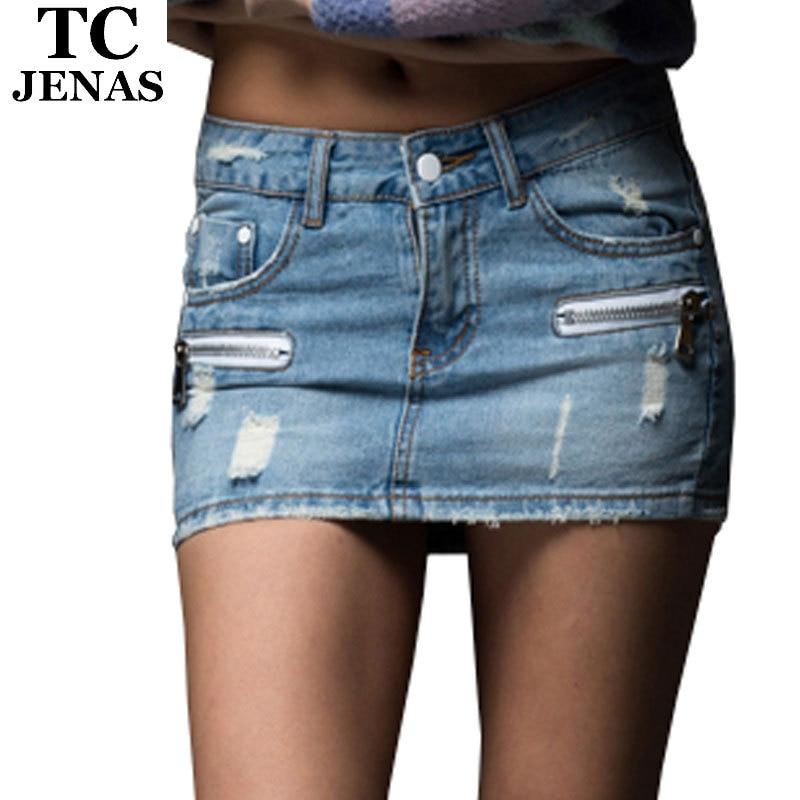 Short Jean Skirt - Skirts