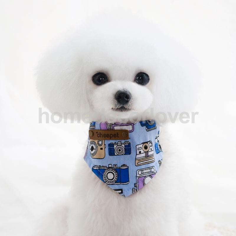 Cartoon Bandana Collar Pet Cat Dog Puppy Neckerchief Neck Scarf Bib Camera M