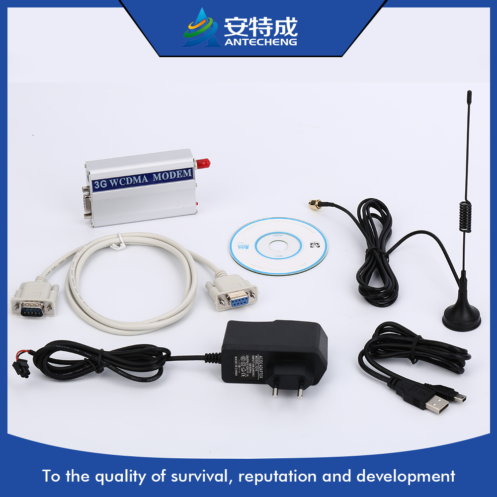 Industrial M2M wireless sim usb rs232 3g modem for remote control sms and data transfer