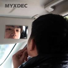 Новейшее ультра-тонкое автомобильное зеркало для макияжа автомобиля солнцезащитное зеркало из нержавеющей стали зеркало для автомобиля косметическое зеркало автомобиля интерьерное зеркало аксессуары