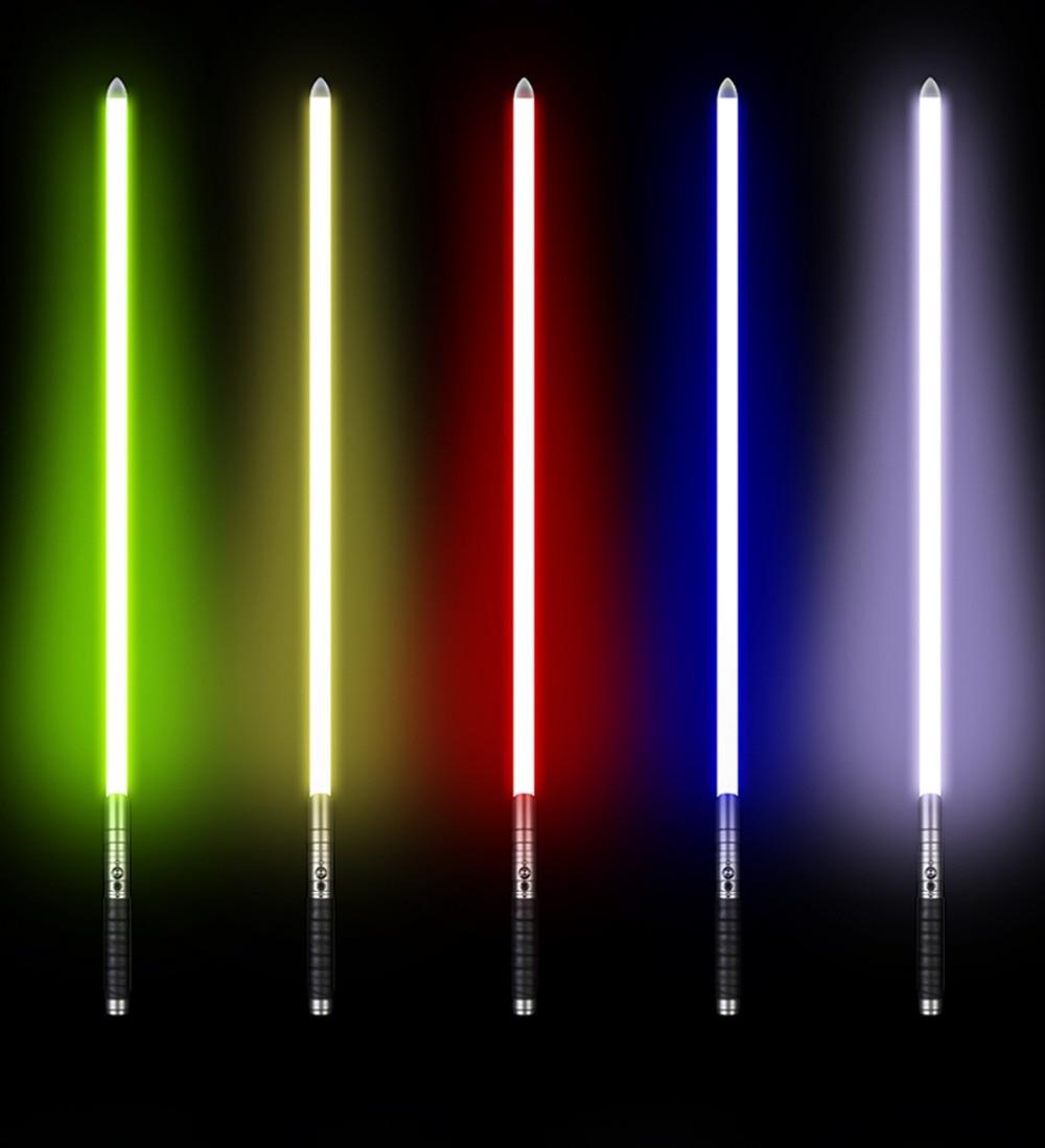 ЛГТ РГБ световой меч джедая Ситхов Люк световой меч силы FX и тяжелые дуэльные перезаряжаемые цвет изменяя звук ГДП запереть металлической ручкой