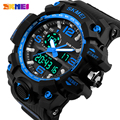 2016 NEW SKMEI Brand Men's Sports Military Army Watches Men Analog LED Digital Watch SHOCK Big dial Alarm Clock Wristwatches
