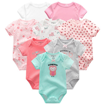 Baby's Colorful Rompers 8 Pcs Set 3