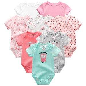 Image 3 - Baby Kleidung 8 Teile/lose Unisex Neugeborenen Jungen & Mädchen Strampler roupas de bebes Baumwolle Baby Kleinkind Overalls Kurzarm Baby kleidung