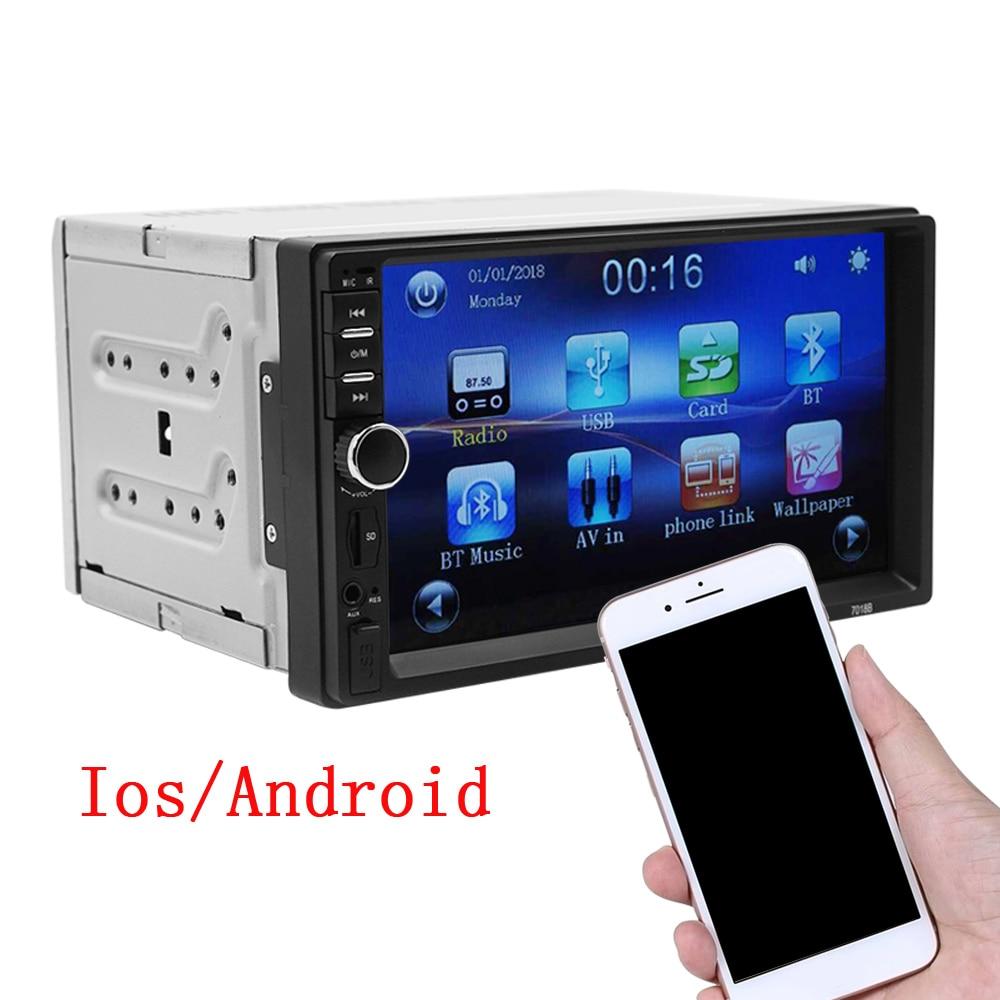 "2din Android Auto Multimedia Speler Radio MP5 7 ""Hd Autoradio Systeem Unit Radio Coche Touch Screen Bluetooth Usb Tf fm Ios|Auto MP4 & MP5 Spelers|   - AliExpress"