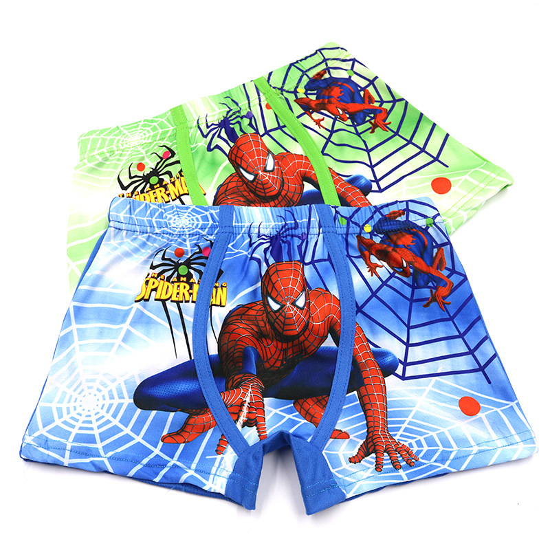 2Pcs/Lot New Children's Boxer Panties Cotton Boy 3D Print Boxer Briefs Cartoon Spiderman Underwear 2-10 Years mycolen leather mens dress shoes high quality breathable oxford shoes for men lace up business brand men wedding shoes