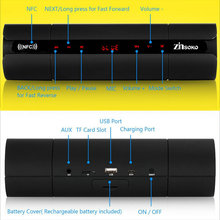 2018 Newest Wireless Bluetooth Speaker KR8800 Touch Portable Loudspeaker Support NFC/ FM for iPhone Mobile PC Computer Laptop