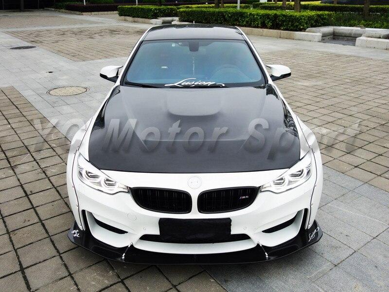 Accesorios de coche de doble cara de fibra de carbono GTS estilo cubierta del capó ajuste para 2014-2016 F80 M3 F82 F83 M4 capó