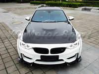Accesorios de coche doble-lado de fibra de carbono GTS capucha, estilo cubierta para 2014-2016 F80 M3 F82 F83 m4 capucha capó