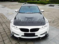 Car Accessories Double-Side Carbon Fiber GTS Style Hood Cover Fit For 2014-2016 F80 M3 F82 F83 M4 Hood Bonnet