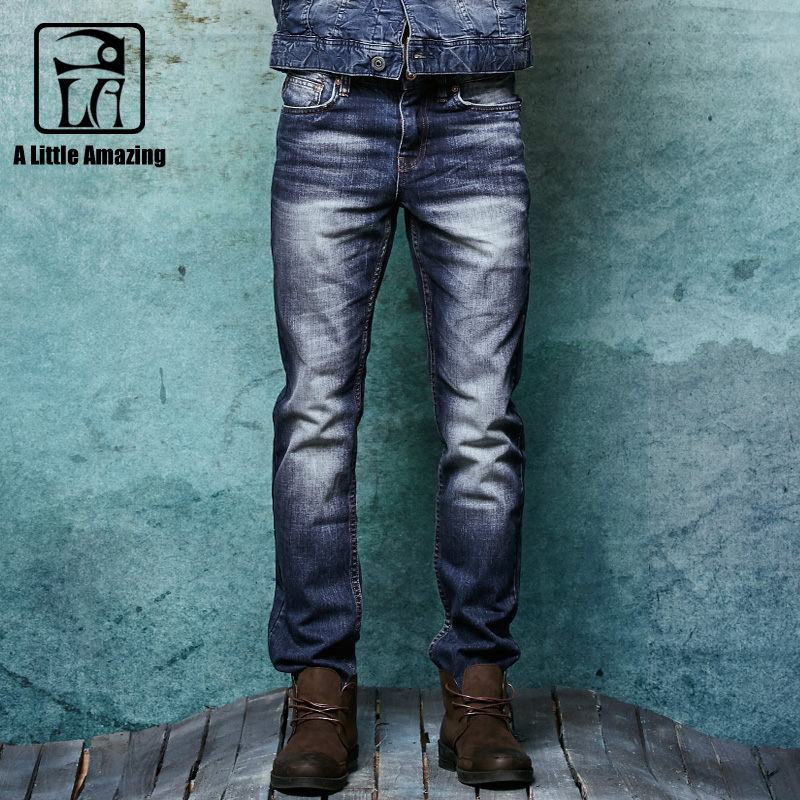 2016 New style Slim Straight Jeans men Designer Brand Ripped Jeans Mens Solid Casual Straight men Jeans Light Blue Denim Pants 2017 new brand men jeans style mens washed denim pants ripped jeans large size male casual straight slim wholesale jeans 2081