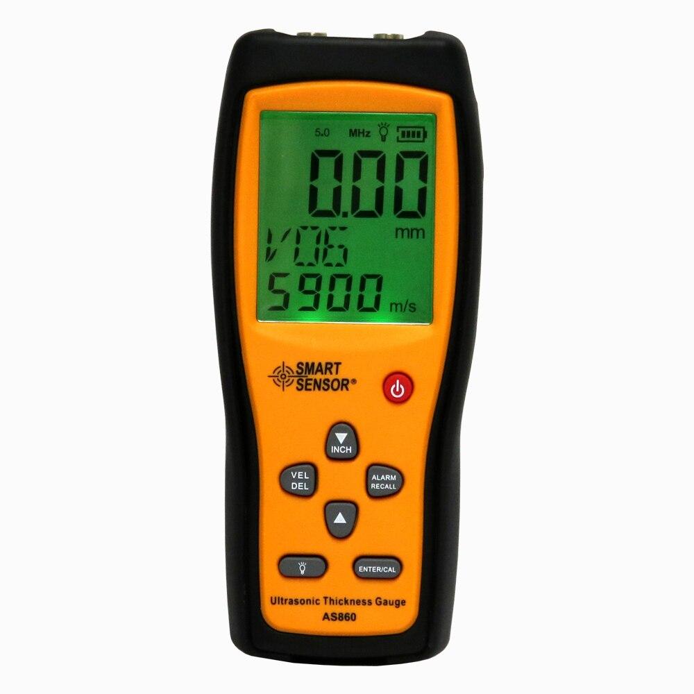 sheet metal measuring tools. ultrasonic thickness gauge digital sheet metal measuring range: 1.0 to 300mm (steel) sound velocity meter smart sensor as860-in width instruments tools