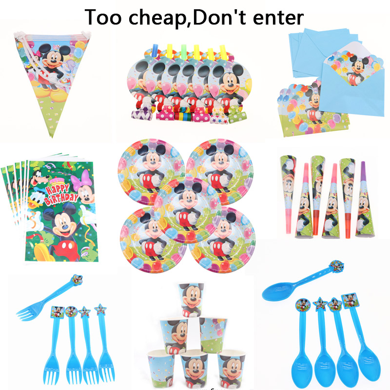 6pcs lot Cartoon Mickey Cup Popcorn box napkins Set Happy Birthday Wedding Party Christmas Decoration For Home Kids in Cake Decorating Supplies from Home Garden