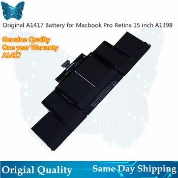"""Portátil A1417 batería para Apple MacBook Pro 15 """"pulgadas A1398 A mediados de 2012 A principios de 2013 Retina MC975LL/MC976LL/MD831LL/95Wh 10,95 V"""