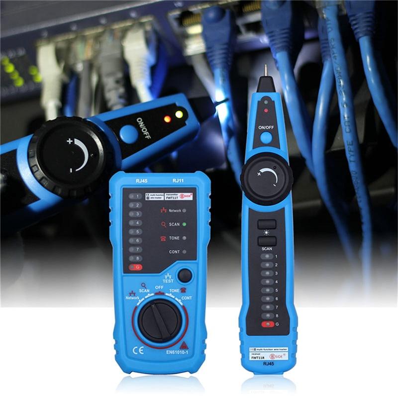 BSIDE FWT11 High Quality RJ11 RJ45 Cat5 Cat6 Telephone Wire Tracker Tracer Toner Ethernet LAN Network Cable tester Line Finder цена