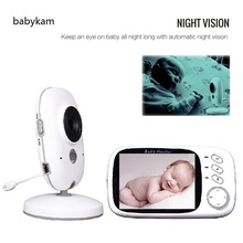Babykam bateria eletronica doppler 3.2 inch IR Night vision 2 way talk 8 Lullabies Temperature monitor baba electronics monitor