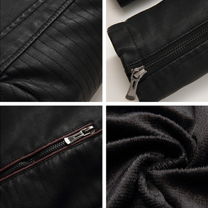 Image 5 - Mountainskin Mens Winter Autumn Casual Leather Jacket Fitness Motorcycle Faux Leather Bomber Jacket Male Outerwears LA766