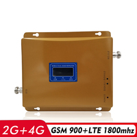 LCD Display 65dB Gain 2G 3G 4G Dual Band Signal Repeater GSM 900 DCS LTE 1800 Cellphone Signal Booster Cellular Signal Amplifier