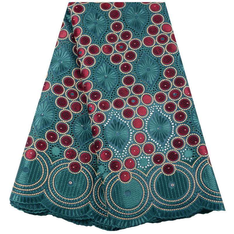 African 100 Dry Cotton Swiss Voile Lace Fabric High Quality Stone Swiss Voile Lace In Switzerland