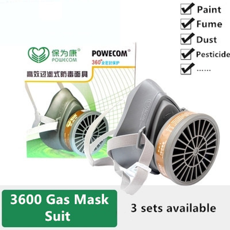 Painting Gas Mask Half Mask Efficiency Filter Respirator Organic Vapors Protection Labor Formaldehyde Dust-proof Gas Mask