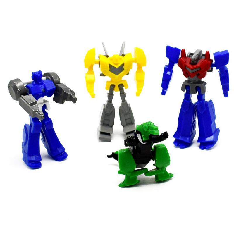 1 Stück Kunststoff Puzzle Roboter Modell Kid Action-figuren Pädagogisches Spielzeug Geburtstag Geschenk Zufällige Farbe
