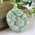 Genuine natural a jade a Buddism godness  Burma jade jade a Buddism godness  jade pendant with certificate